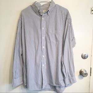 Brooks Brothers Vertical Stripe Button Up Shirt